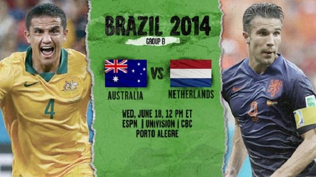 گزارش زنده بازی استرالیا – هلند جام جهانی ۲۰۱۴