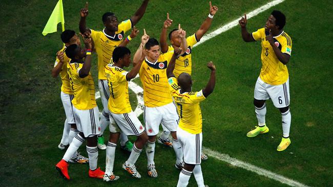 کلمبیا 2-0 اروگوئه / جیمز رودریگز آقای گل جدید جام