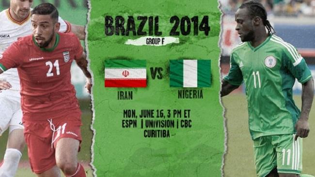 گزارش زنده بازی ایران – نیجریه جام جهانی ۲۰۱۴