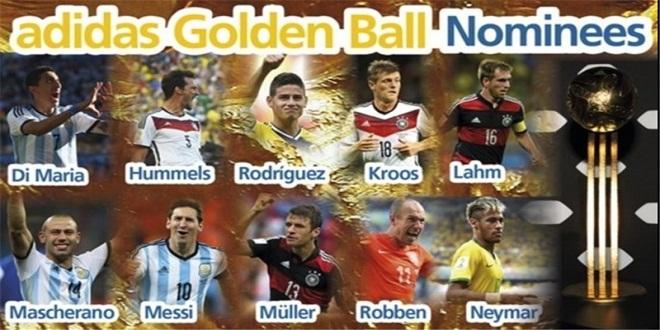 نامزدهای بهترین های جام جهانی معرفی شدند