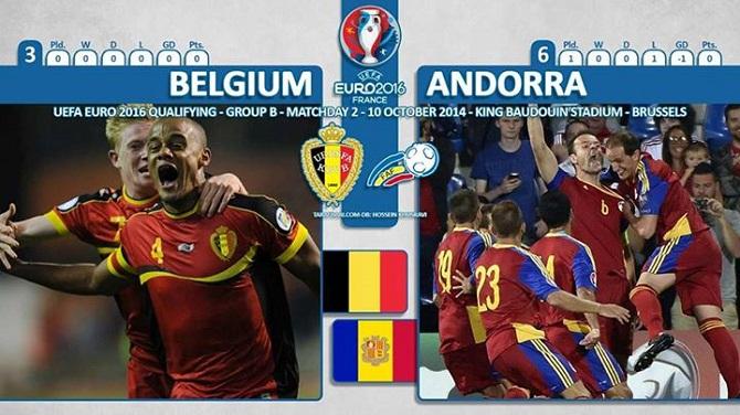 پیش بازی بلژیک - آندورا/ آغاز پروژه یورو 2016 برای شیاطین سرخ