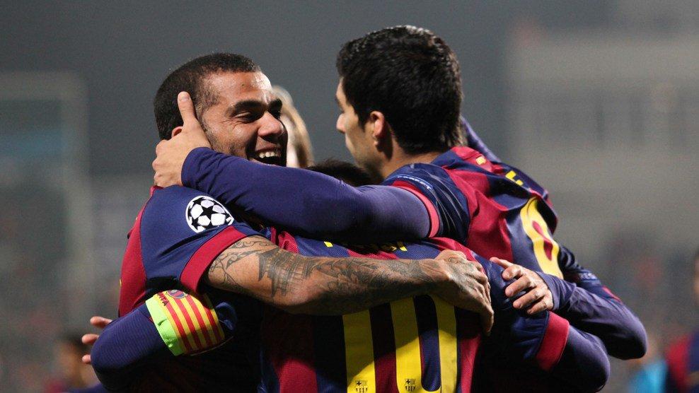 آپوئل نیکوزیا 0-4 بارسلونا/ اولین گل لوئیز سوارز