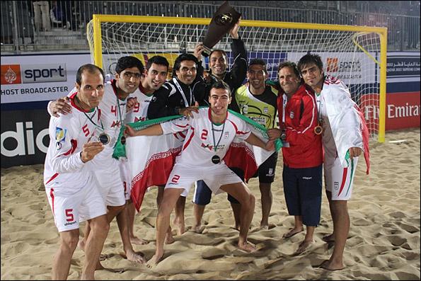 تیم ملی فوتبال ساحلی ایران چهارم شد