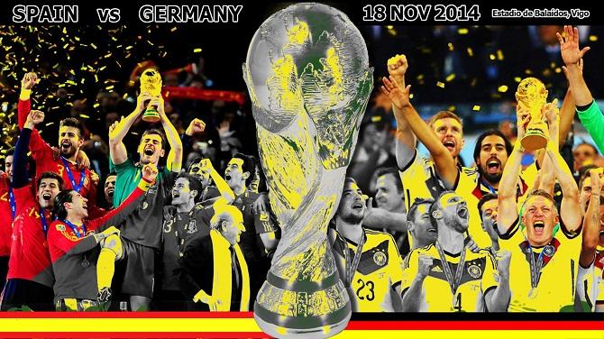 پیش بازی اسپانیا - آلمان/ نبرد قهرمانان دو دوره اخیر جام جهانی در بیگو